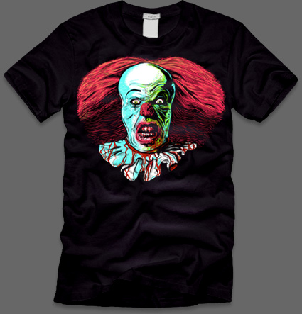 Pennywise from IT T,Shirts, fright,rags.com