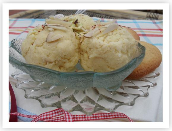 saffron cardamom ice cream beautifully rich and creamy ice cream with ...