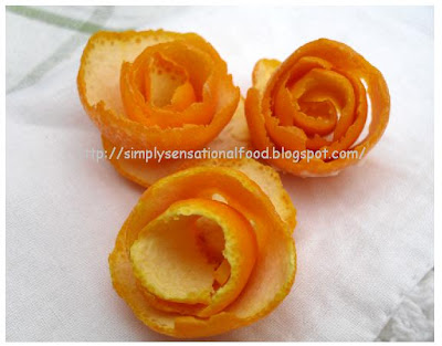 how to make vegetable flower garnishes