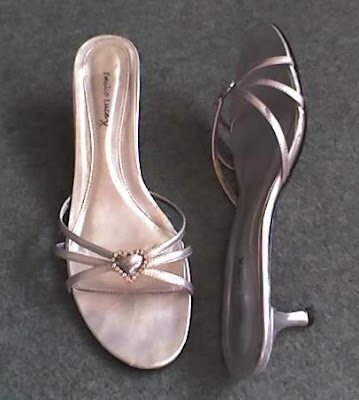 silver evening pumps. Brantano Silver Heart Sandals