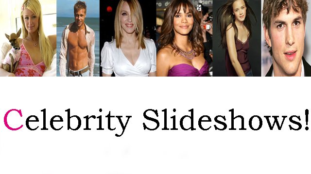 Celebrity SlideShows for your Blog