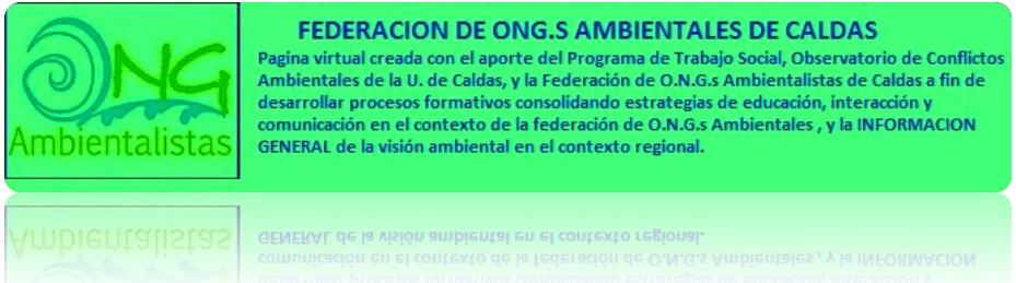 FEDERACION DE ONG.S AMBIENTALES
