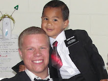 "Elder Stucki with ""littlest companion"""