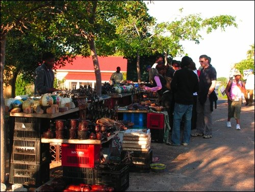 Open Market Near African Penguin Park