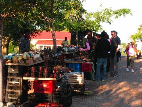 Open Market Near African Penguin Park