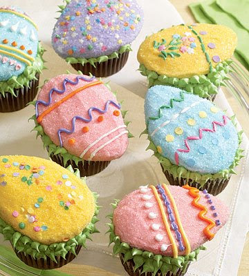 easter cupcakes with peeps. easter cupcakes peeps.