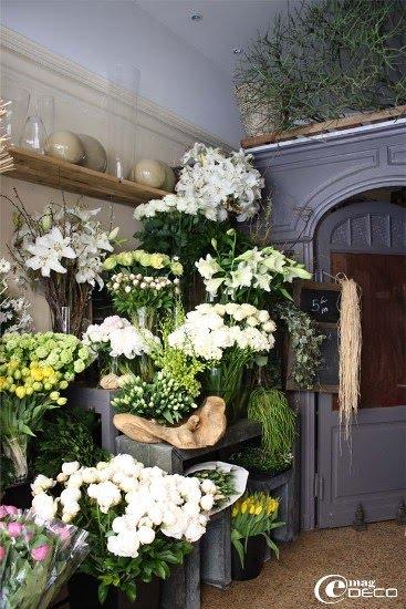 L'intérieur de la boutique du fleuriste Autres... à Montpellier