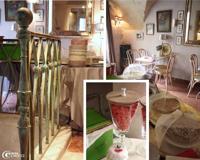 Le salon de thé Chez Cerise, sous la voûte