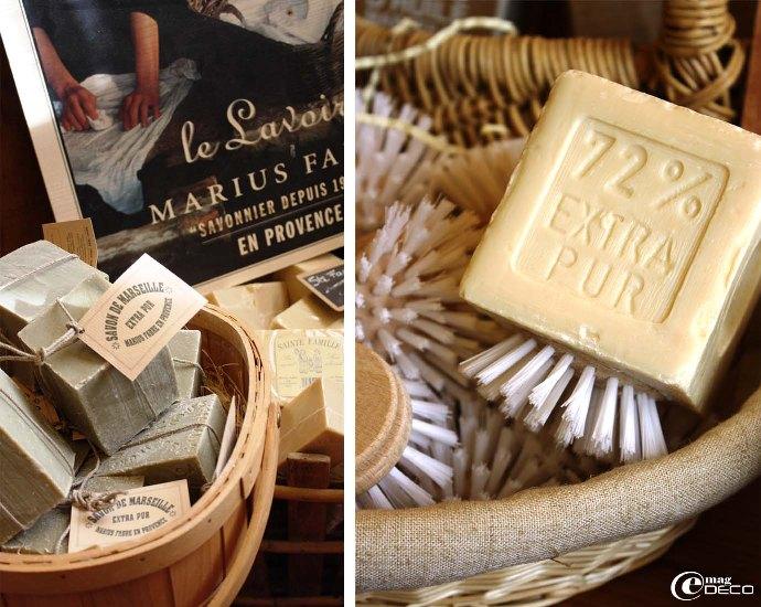 Les produits Marius Fabre exposés dans la boutique