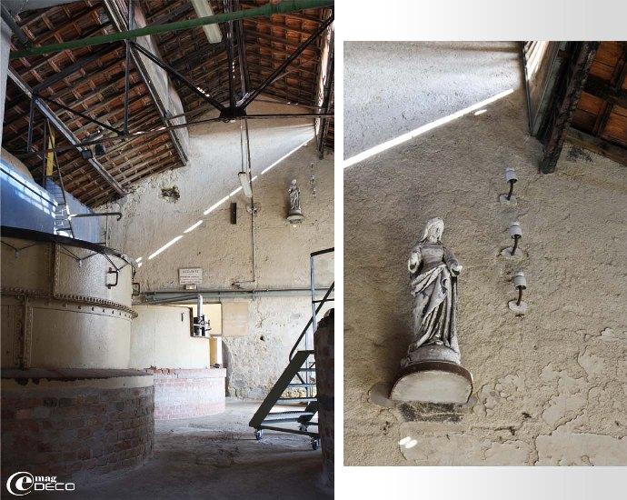 Salle des chaudrons, détail de la vierge protégeant le sabonerius