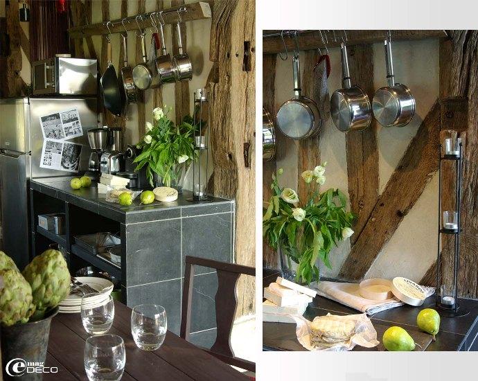 Éléments de cuisine en ardoise naturelle