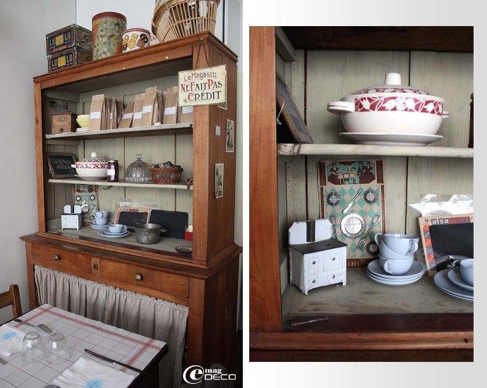 Mise en scène dans un deux corps dans le salon de thé Mamie Gâteaux à Paris