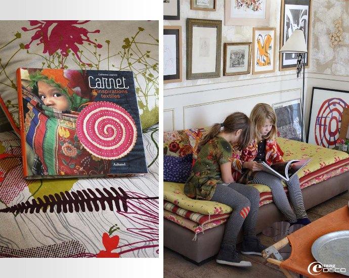 Livre Catherine Legrand, Carnet d'inspirations textiles et matelas Caravane