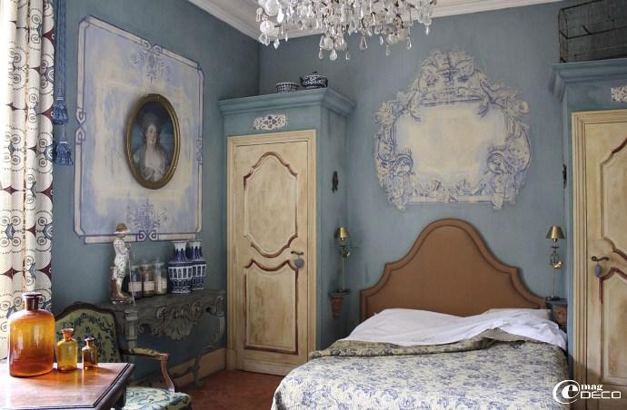 La Chambre Bleue du Château de Christin