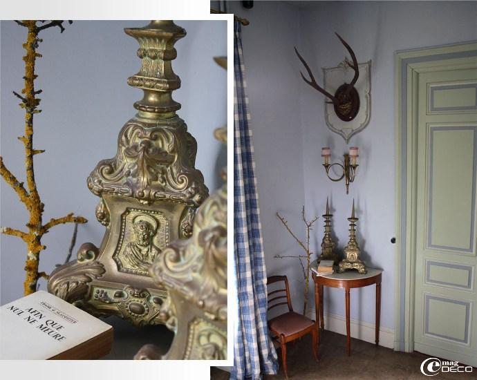 Décoration dans la cage d'escalier d'honneur du château de Christin