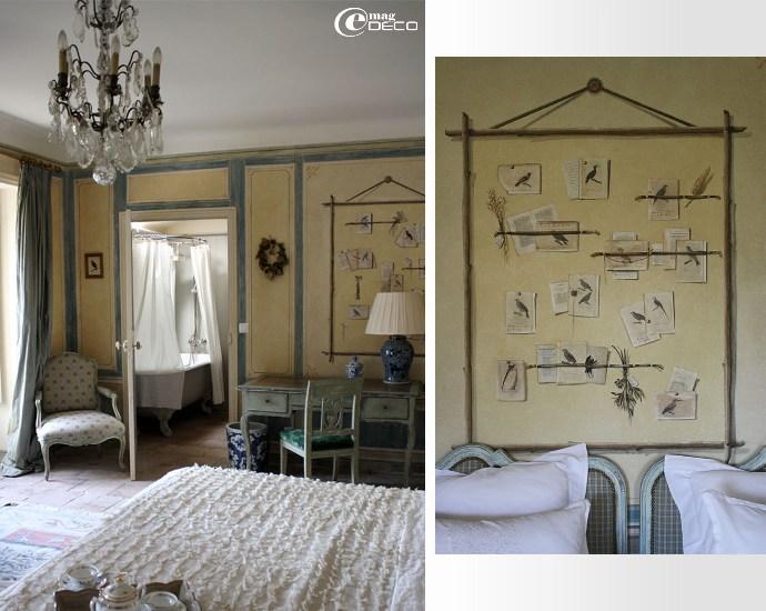 La Chambre aux Oiseaux, Château de Christin, maison d'hôtes de prestige en Provence