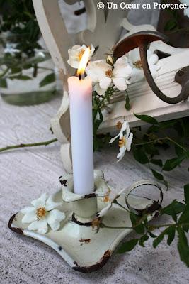 A enamel chandelier