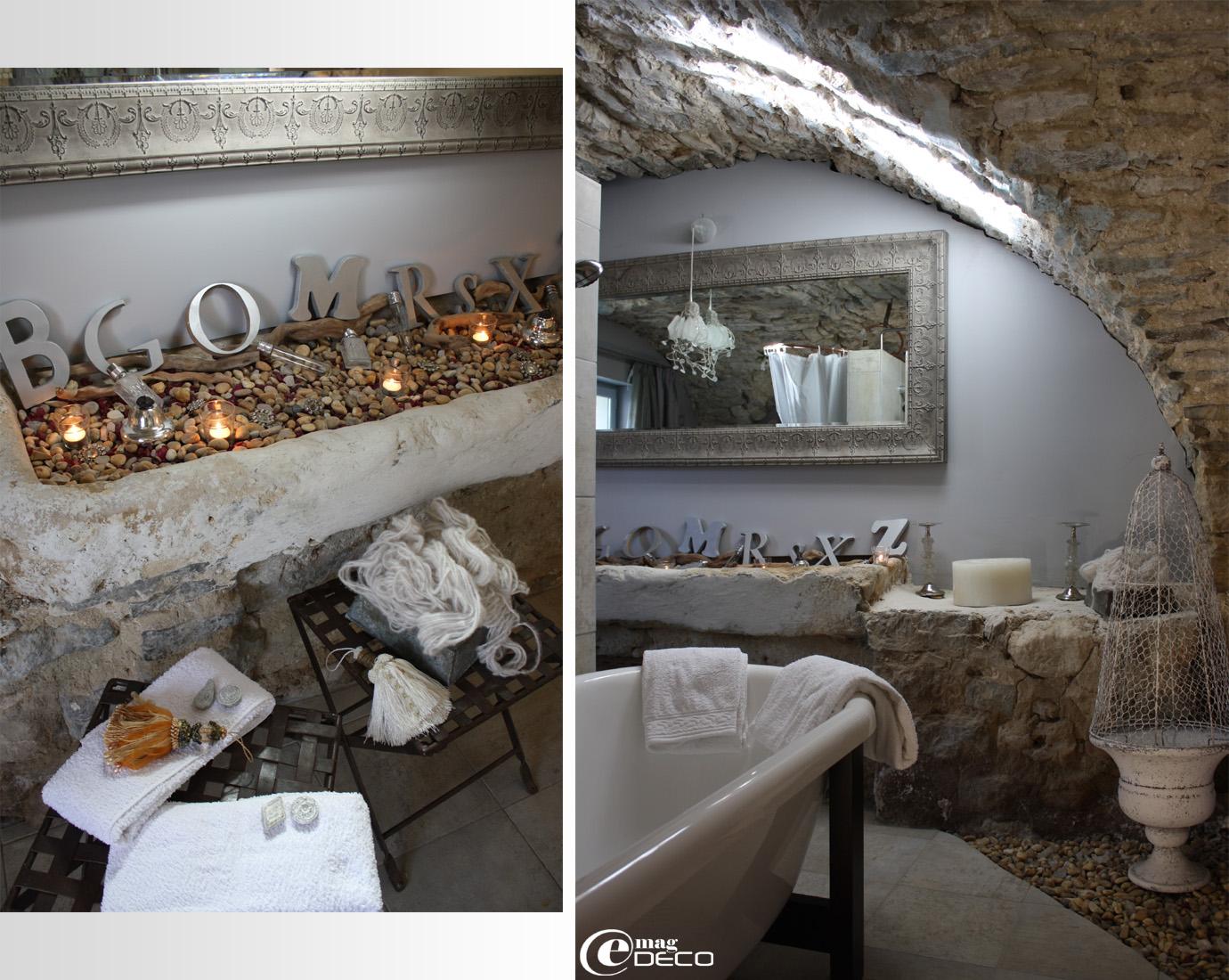 Salle-de-bains de la chambre Cristal