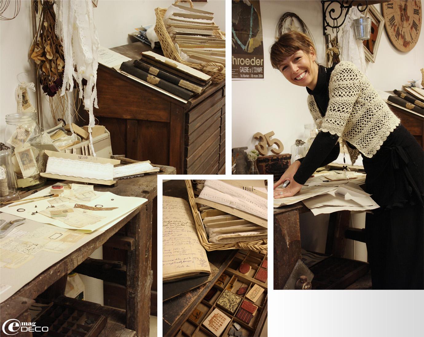 Aurélia dans son atelier