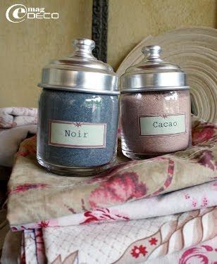 Teintures en poudre noir et cacao Dylon