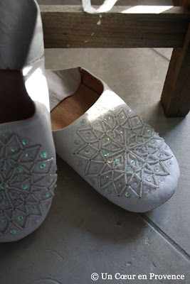 Sequined slippers from Tunisia