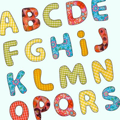 Letter patterns for applique 1000 free patterns for Applique letters template