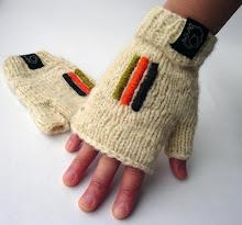 guantes tonos blanco sin dedo bordados
