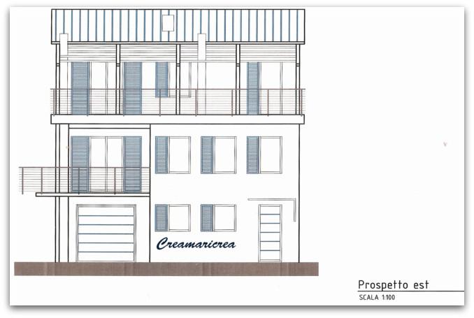 Creamaricrea la mia casa il progetto con i prospetti - Finestre prospetto dwg ...