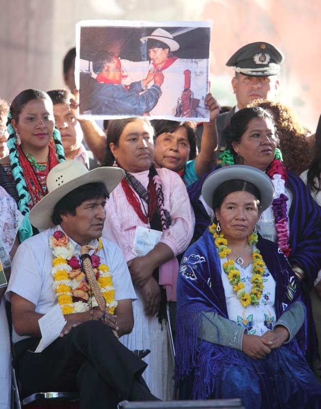 El Presidente Evo Morales en Coyoacán D.F.