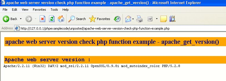 get php version: