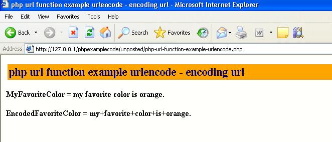 php urlencode