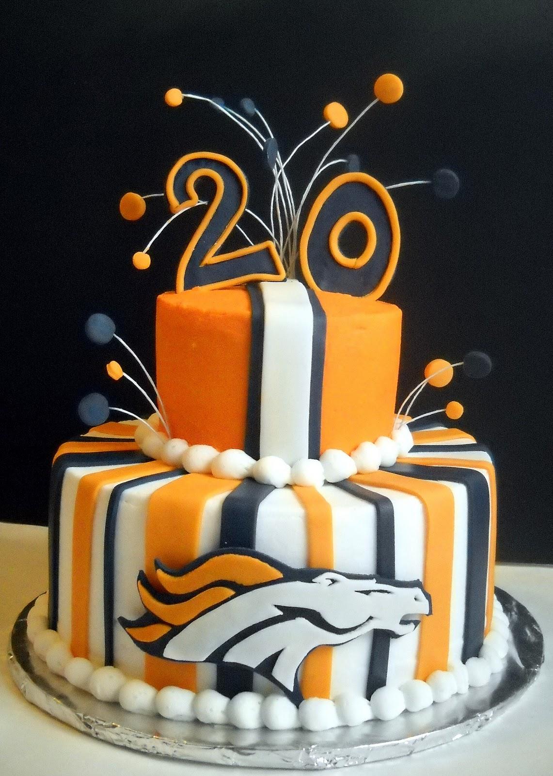 Violets Custom Cakes Denver Broncos Birthday