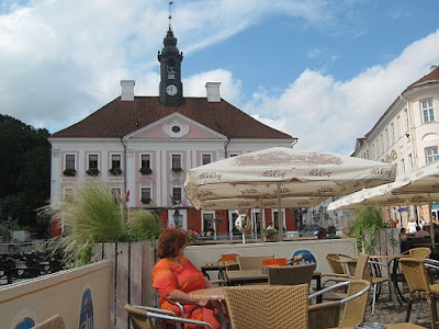 main square in Tartu, Estonia