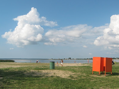 cloudy day at beach in Haapsulu Estonia