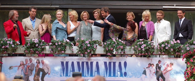the popband Abba and cast of Mamma Mia