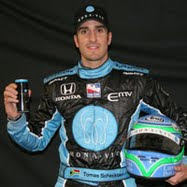 MONAVIE Car Driver Tomas Scheckter (watch his race by clicking on image)