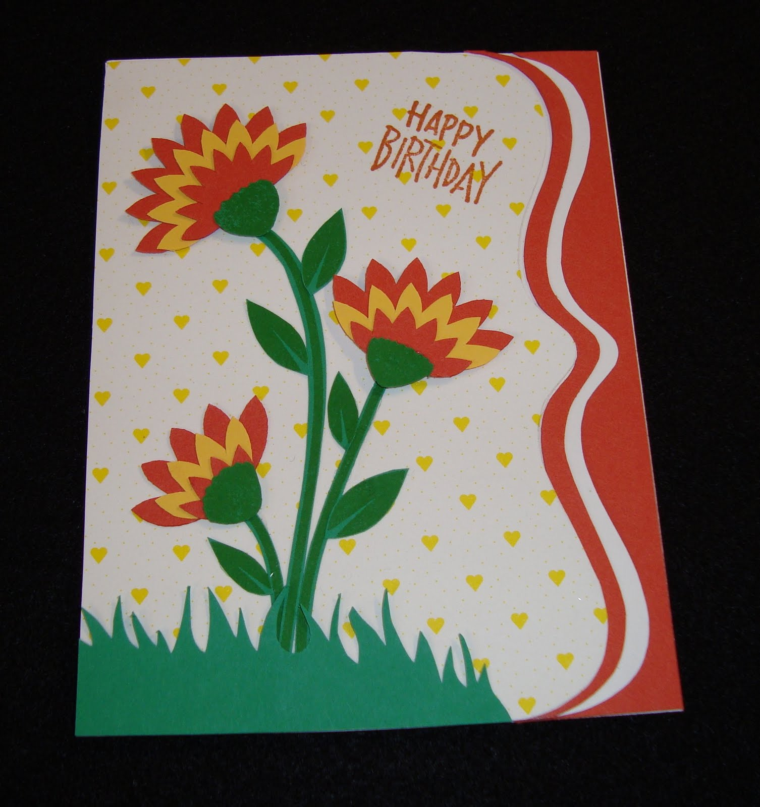 Owh stars and stamps our old blog tutorial flower card thanks again to esther for this beautiful card i love the idea of cutting up the flowers to make a new look izmirmasajfo