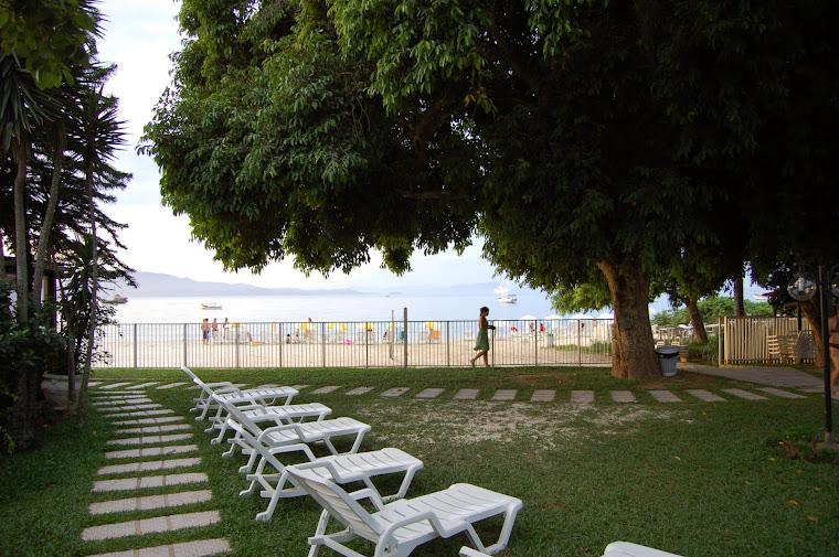 Vista do Hotel para a praia.