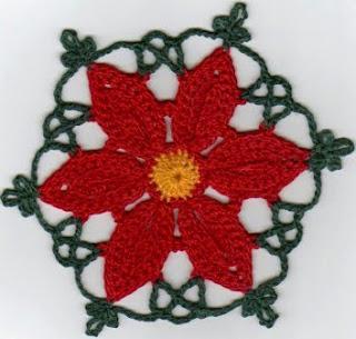 CROCHET POINSETTIA FREE ? Only New Crochet Patterns