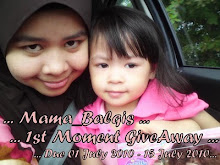 Mama_Balqis 1st Moment GiveAway