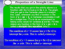 PROPERTIES OF A STRAIGHT LINE