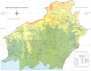 map of central kalimantan indonesia