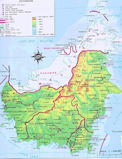 map of kalimantan indonesia