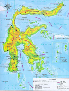 map of sulawesi indonesia