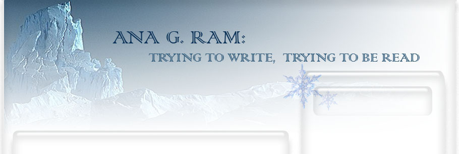 Ana G. Ram: trying to write, trying to be read
