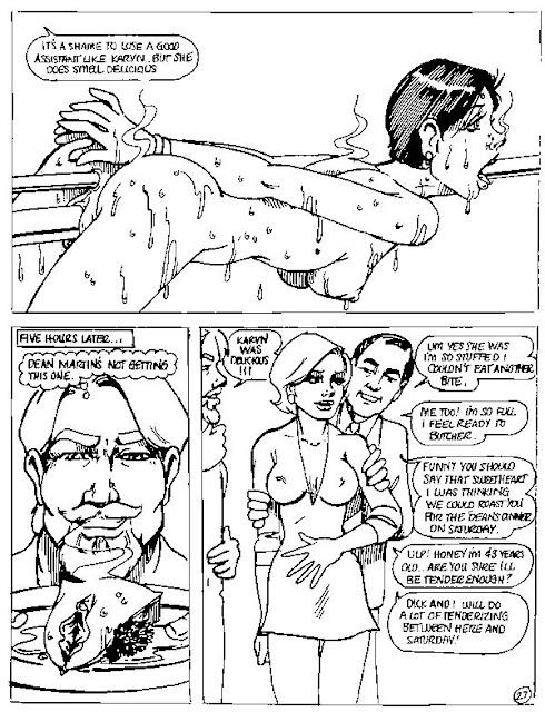 Comic über Gynophagie-Fetischismus.
