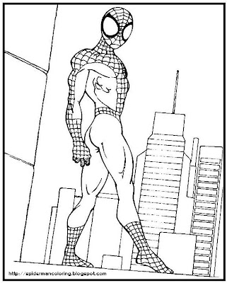 Spiderman Coloring Sheets on Spiderman Coloring  Spider Man Colouring Page