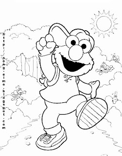 Elmo Coloring Sheets On Pages Jpg