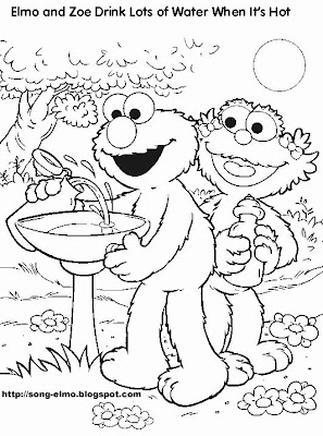 Elmo Halloween Coloring Pages Print