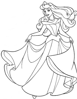 Coloring Pages  Girls on Coloring Pages For Girls  Sleeping Beauty Coloring Pages